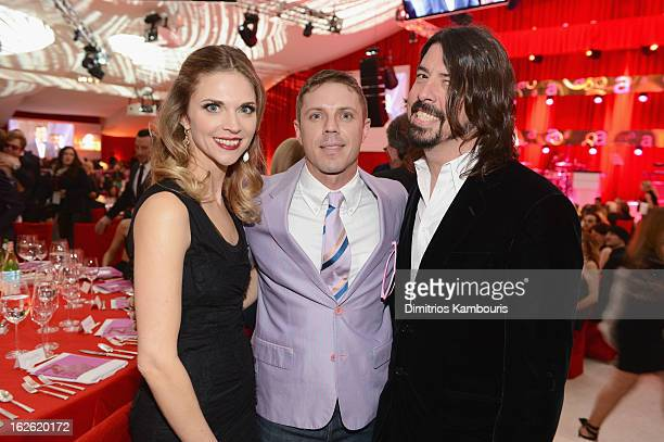 Jordyn Grohl singer Jake Shears of Scissor Sisters and musician Dave Grohl attend the 21st Annual Elton John AIDS Foundation Academy Awards Viewing...