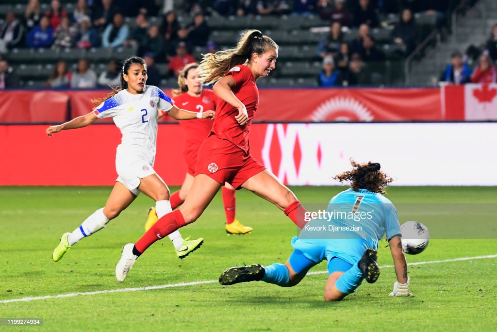 Canada v Costa Rica: Semifinals - 2020 CONCACAF Women's Olympic Qualifying : News Photo