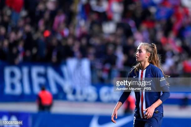 Jordyn Huitema of Paris SaintGermain Women looks on during the Division 1 Arkema Feminine match between Paris SaintGermain and Olympique de Marseille...