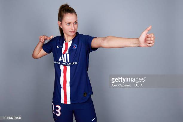 Jordyn Huitema of PSG poses during the UEFA Women's Champions League Portrait Shoot on February 24 2020 in Paris France