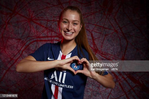 Jordyn Huitema poses during the UEFA Women's Champions League Portrait Shoot on February 24 2020 in Paris France