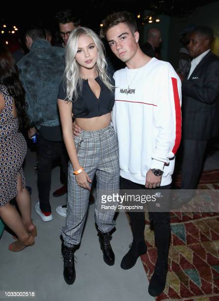 Jordyn Jones and Jordan Beau attend the Firework APP launch at Two Bit Circus on September 13 2018 in Los Angeles California