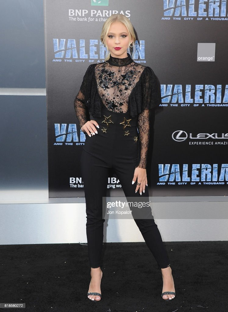 Jordyn Jones arrives at the Los Angeles Premiere 'Valerian And The City Of A Thousand Planets' at TCL Chinese Theatre on July 17, 2017 in Hollywood, California.