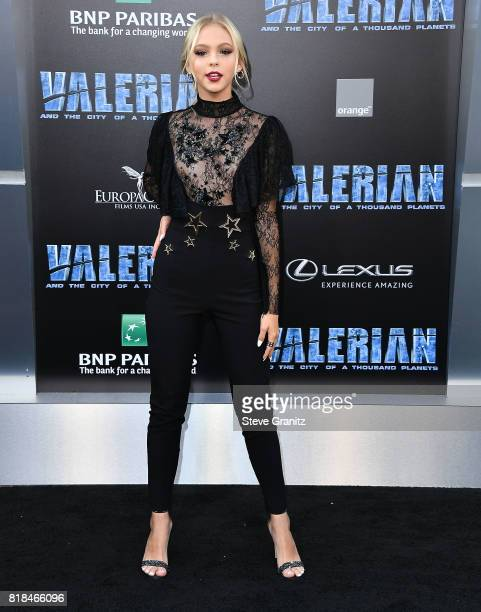 """Jordyn Jones arrives at the Premiere Of EuropaCorp And STX Entertainment's """"Valerian And The City Of A Thousand Planets"""" at TCL Chinese Theatre on..."""