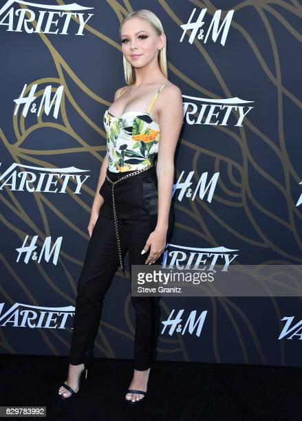 Jordyn Jones arrives at the Variety Power Of Young Hollywood at TAO Hollywood on August 8, 2017 in Los Angeles, California.