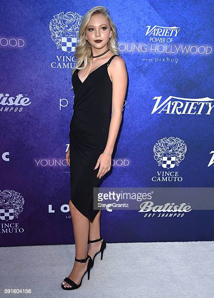 Jordyn Jones arrives at the Variety's Power Of Young Hollywood at NeueHouse Hollywood on August 16 2016 in Los Angeles California