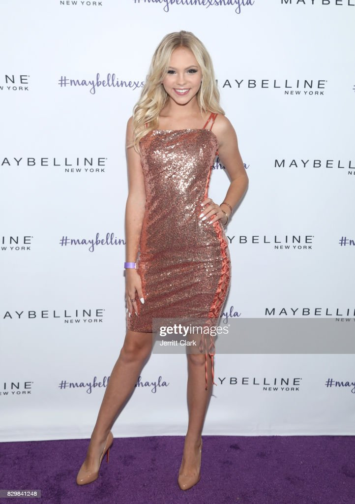 Jordyn Jones attends Maybelline's Los Angeles Influencer Launch Event at 1OAK on August 10, 2017 in West Hollywood, California.