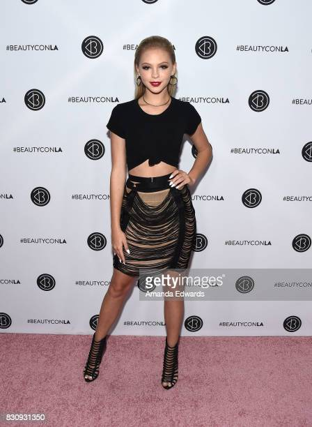 Jordyn Jones attends the 5th Annual Beautycon Festival Los Angeles at the Los Angeles Convention Center on August 12 2017 in Los Angeles California