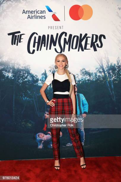 Jordyn Jones attends the American Airlines And Mastercard Present The Chainsmokers At The Wiltern In Los Angeles on June 14 2018 in Los Angeles...