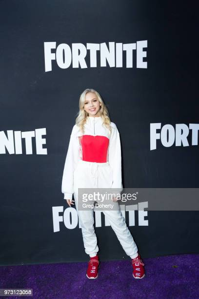 Jordyn Jones attends the Epic Games Hosts Fortnite Party Royale on June 12 2018 in Los Angeles California