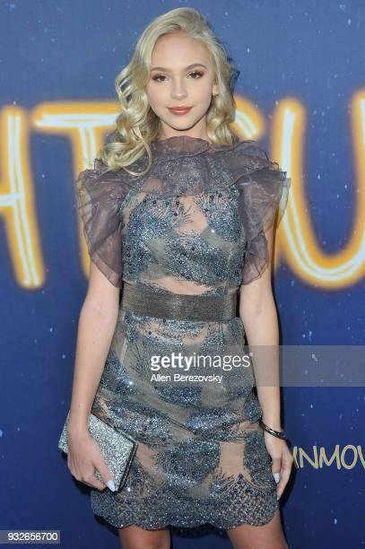Jordyn Jones attends the Global Road Entertainment's World Premiere of 'Midnight Sun' at ArcLight Hollywood on March 15 2018 in Hollywood California