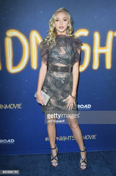 Jordyn Jones attends the Los Angeles Premiere 'Midnight Sun' at ArcLight Hollywood on March 15 2018 in Hollywood California