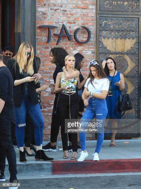 Jordyn Jones is seen on August 08 2017 in Los Angeles California