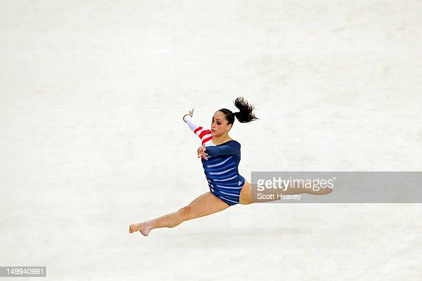 Jordyn Wieber of the United States competes during the Artistic Gymnastics Women's Floor Exercise final on Day 11 of the London 2012 Olympic Games at...