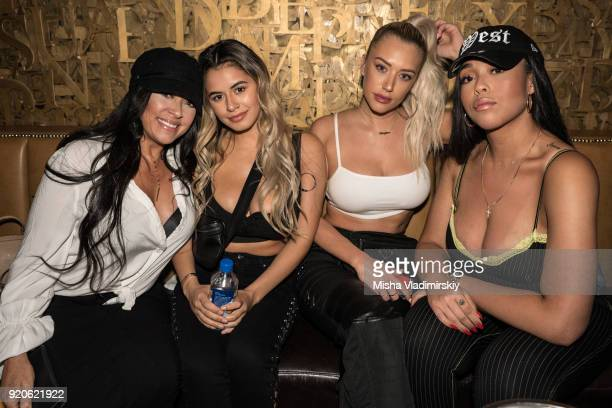 Jordyn Woods and friends hang out at New Era All Star Event with Mike Will Made It and Rae Sremmurd on February 18 2018 in Los Angeles California