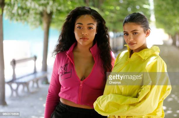 Jordyn Woods and Kylie Jenner attend the Louis Vuitton Menswear Spring/Summer 2019 show as part of Paris Fashion Week on June 21 2018 in Paris France