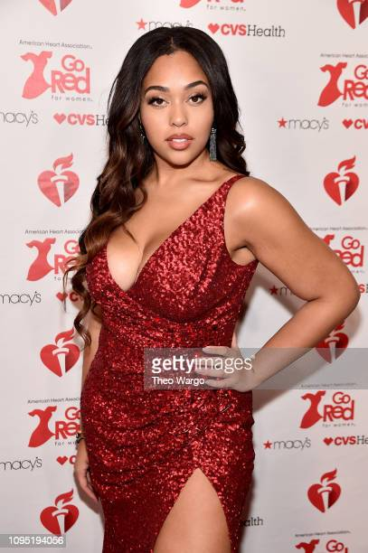 Jordyn Woods attends The American Heart Association's Go Red For Women Red Dress Collection 2019 Presented By Macy's at Hammerstein Ballroom on...
