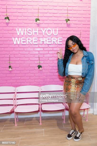 Jordyn Woods attends the store opening for Riley Rose at Glendale Galleria on September 28 2017 in Glendale California