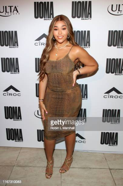 Jordyn Woods attends UOMA Beauty Summer Party on August 10 2019 in Beverly Hills California