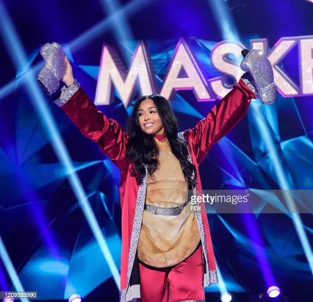 Jordyn Woods in the The Mother Of All Final Face Offs Part 1 episode of THE MASKED SINGER airing Wednesday April 8 on FOX