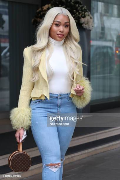 Jordyn Woods seen leaving her hotel on March 27 2019 in London England