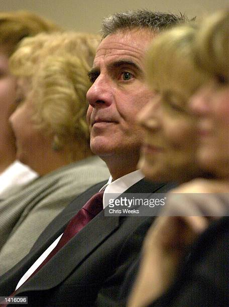 Jorg Halaby exboyfriend of Erin Brockovich and defendant in the Erin Brockovich Extortion case awaits arraignment May 10 2000 at the Ventura County...