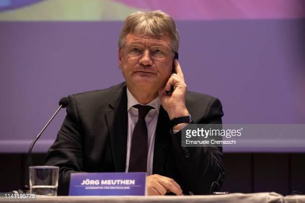Jorg Meuthen attends the press conference u2018Towards a Common Sense Europeu2019 launching a political alliance between various european populist...