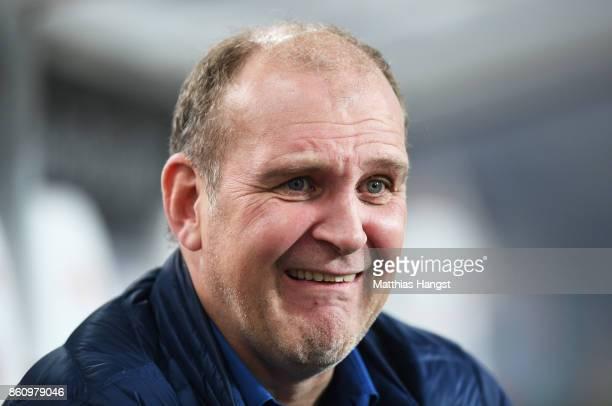 Jorg Schmadtke sport director of 1 FC Koeln before the Bundesliga match between VfB Stuttgart and 1 FC Koeln at MercedesBenz Arena on October 13 2017...