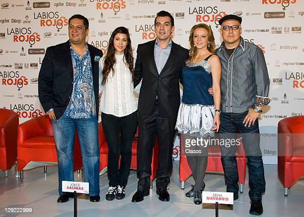 Jorge Aguirre Diana Garcia Jorge Salinas Silvia Navarro Rafael Lara During The press conference to present the movie Cinepolis Red Lips in University...