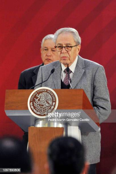 Jorge Alcocer Secretary of Health during the morning press conference at National Palace on January 22 2019 in Mexico City Mexico