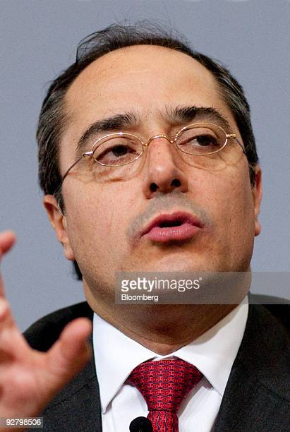 Jorge Alegria Formoso director general of the Mexican Derivatives Exchange MexDer speaks during the Bloomberg Economic Forum in Mexico City Mexico on...