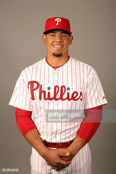Jorge Alfaro of the Philadelphia Phillies poses during Photo Day on Friday February 26 2016 at Bright House Field in Clearwater Florida