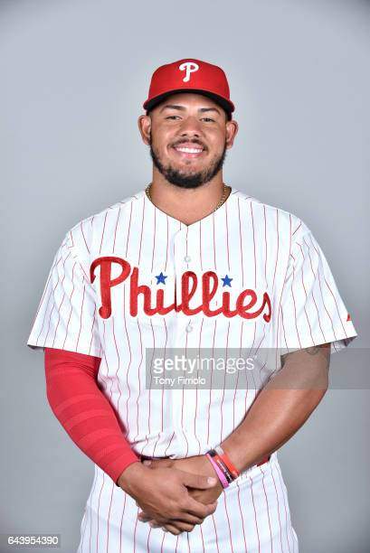 Jorge Alfaro of the Philadelphia Phillies poses during Photo Day on Monday February 20 2017 at Spectrum Field in Clearwater Florida