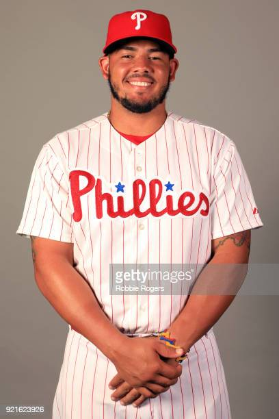 Jorge Alfaro of the Philadelphia Phillies poses during Photo Day on Tuesday February 20 2018 at Spectrum Field in Clearwater Florida