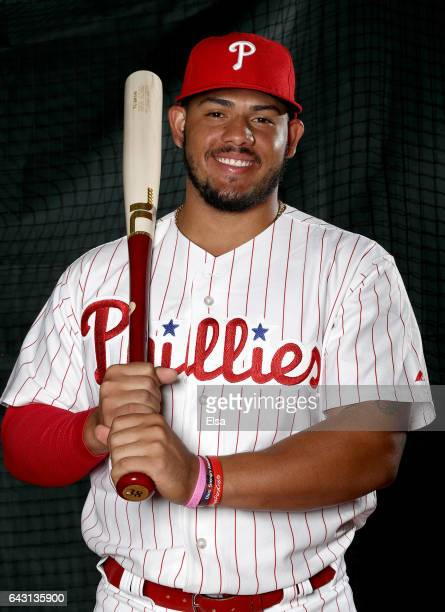 Jorge Alfaro of the Philadelphia Phillies poses for a portrait during the Philadelphia Phillies photo day on February 20 2017 at Spectrum Field in...