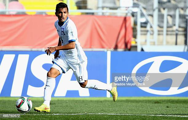 Jorge Alvarez of Honduras looks for a shot on goal during the FIFA U17 World Cup Chile 2015 group D match between Belgium and Honduras at Estadio...