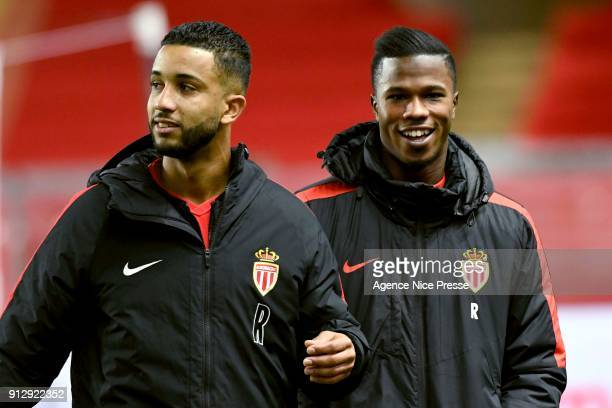 Jorge and Keita Balde of Monaco during the League Cup semi final match between Monaco and Montpellier at Stade Louis II on January 31 2018 in Monaco...