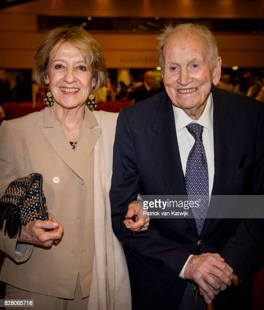 Jorge and Maria Zorreguieta, parents of Queen Maxima, at the Catholic University of Argentina on October 11, 2016 in Buenos Aires, Argentina.