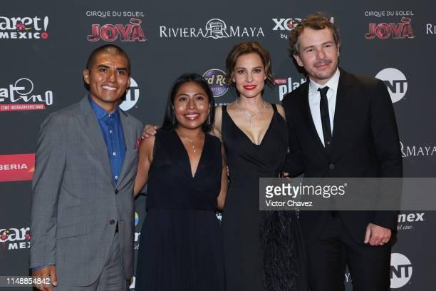 Jorge Antonio Guerrero Martinez, Yalitza Aparicio, Marina de Tavira and Fernando Grediaga attend the red carpet of the Premios Platino 2019 at...