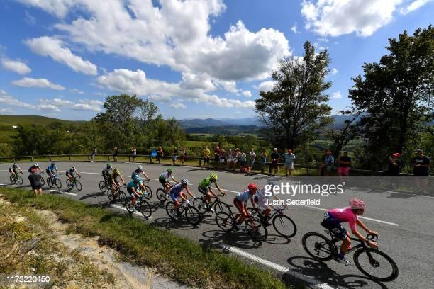 Jorge Arcas of Spain and Movistar Team / Francois Bidard of France and Team AG2R La Mondiale / Gorka Izagirre Insausti of Spain and Astana Pro Team /...
