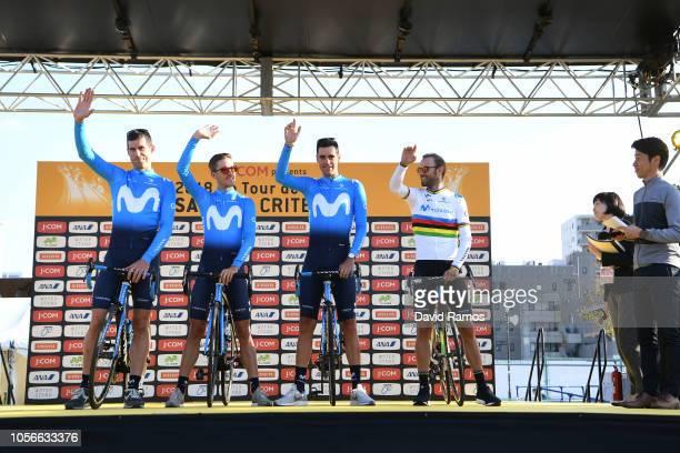 Jorge Arcas of Spain and Movistar Team / Imanol Erviti of Spain and Movistar Team / Ruben Fernandez of Spain and Movistar Team / Alejandro Valverde...