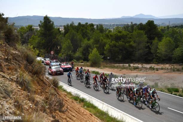 Jorge Arcas of Spain and Movistar Team / Silvan Dillier of Switzerland and Team AG2R La Mondiale / Luis León Sánchez of Spain and Astana Pro Team /...