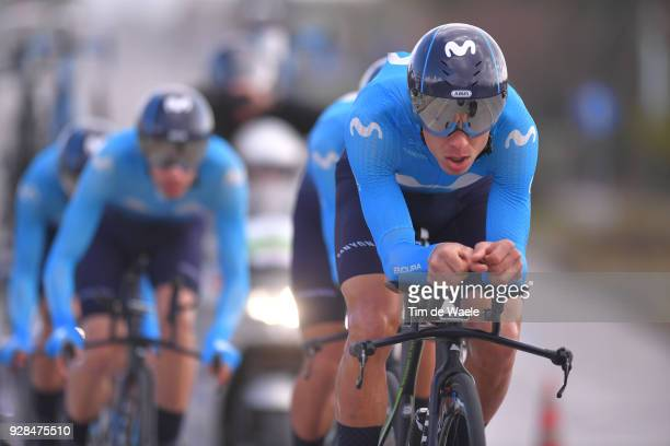 Jorge Arcas of Spain and Team Movistar Team of Spain during the 53rd TirrenoAdriatico 2018 / Stage 1 a Team Time Trial of 215km on March 7 2018 in...