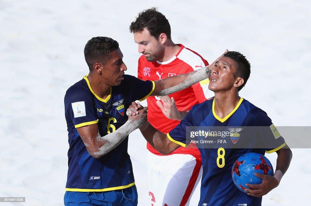 Switzerland v Ecuador- FIFA Beach Soccer World Cup Bahamas 2017 : News Photo