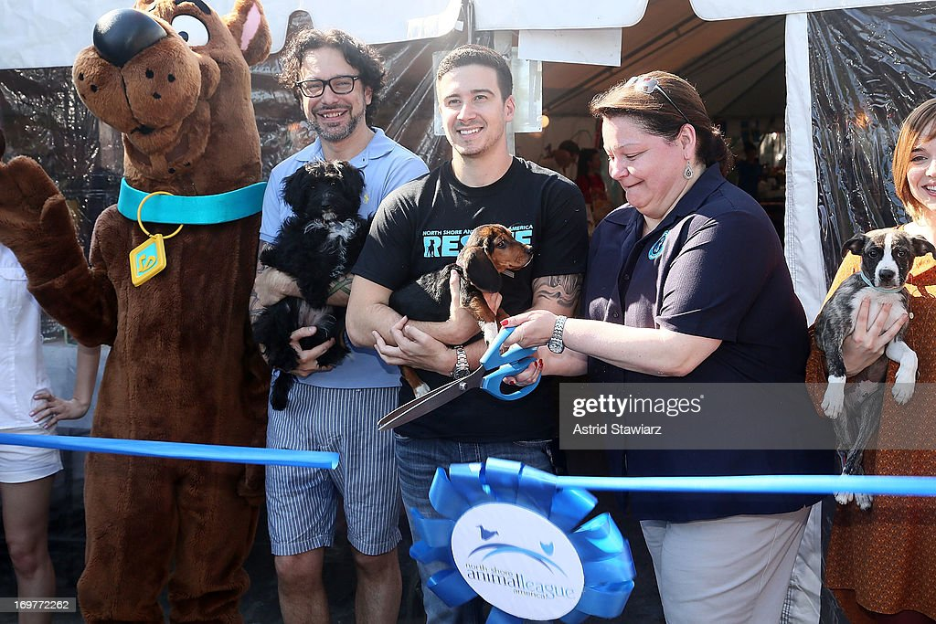 Jorge Bendersky, Vinny Guadagnino and Joanne Yohannan attend the 19th Annual Pet Adoptathon at North Shore Animal League America on June 1, 2013 in Port Washington, New York.