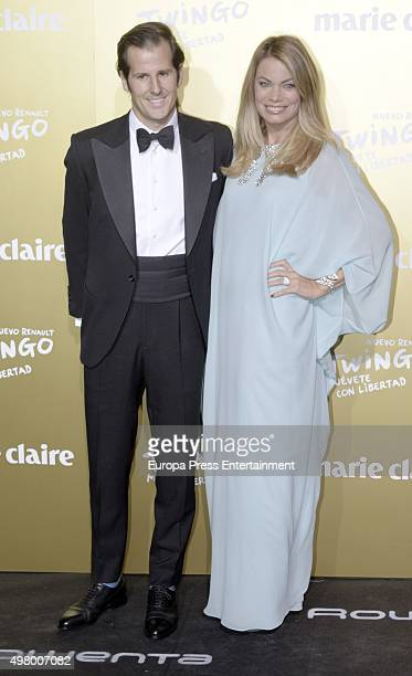 Jorge Benguria and Carla Goyanes attend Marie Claire Prix de la Moda Awards 2015 at Callao cinema on November 19 2015 in Madrid Spain