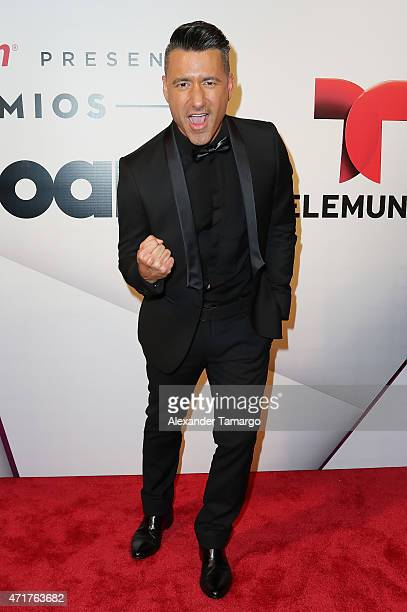 Jorge Bernal poses backstage at 2015 Billboard Latin Music Awards presented by State Farm on Telemundo at Bank United Center on April 30 2015 in...
