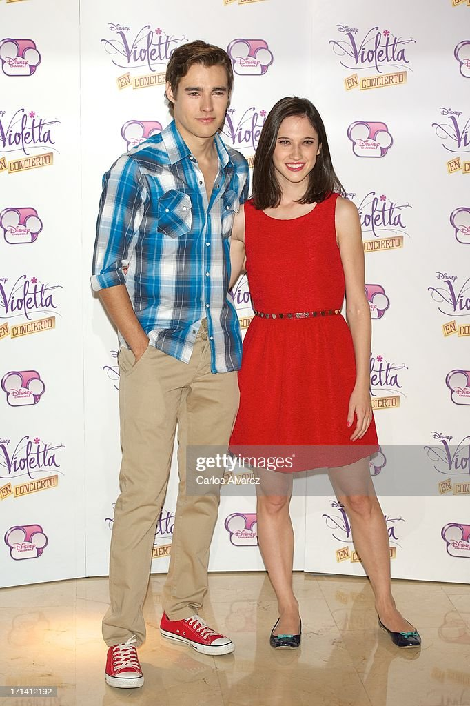 Jorge Blanco and Ludovica Comello attend the 'Violetta' photocall at the Emperador Hotel on June 24, 2013 in Madrid, Spain.