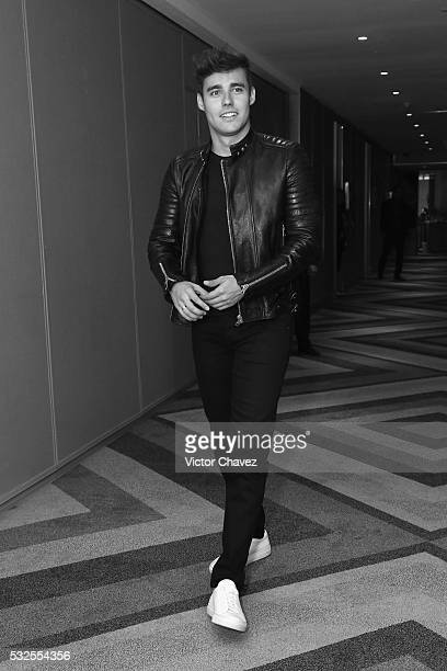 Jorge Blanco attends a meet and greet with fans to promote the film 'Tini El gran cambio de Violetta' at W Hotel Mexico City on May 18 2016 in Mexico...