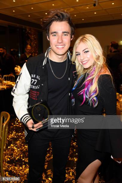 Jorge Blanco Chany Dakota attends the Place To B Influencer Award at Axel Springer Haus on November 25 2017 in Berlin Germany